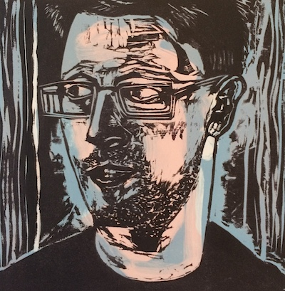 Michael Lyons, Whistleblower, woodcut,