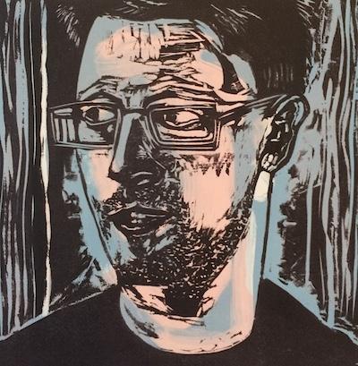 Michael Lyons, Whistleblower, woodcut,