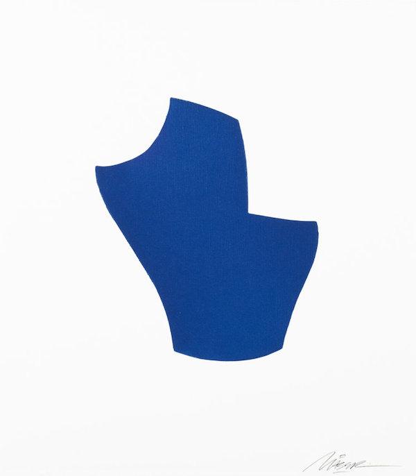 Maser, Translation III, Blue, woodblock,25 x 22 (image), 33 x 30 (paper), €175 framed