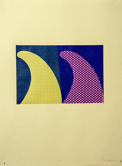 Tom Phelan, Fins, Woodblock,22cm x 17cm (image size), € 310 unframed