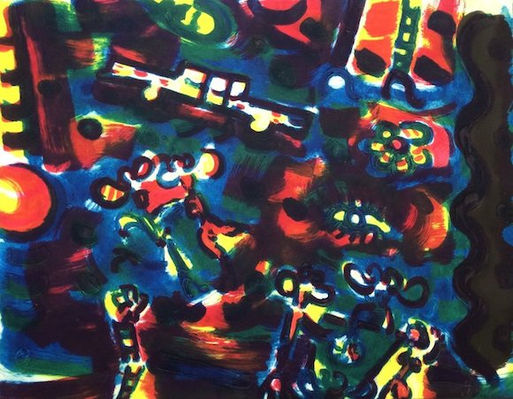Michael Cullen, Las Vegas Nocturne,sheet and image, aprox 85 x 105cm