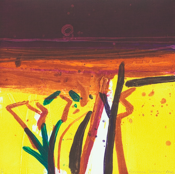 Barbara Rae, Provence Yellow, 44cm x 43cm (image and paper size), ed. of 30, €1,500