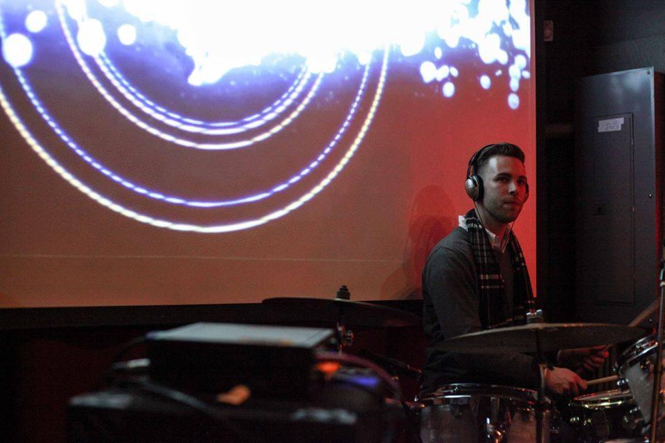 Drew Morton on drums (image via: jacklionsoud.com)