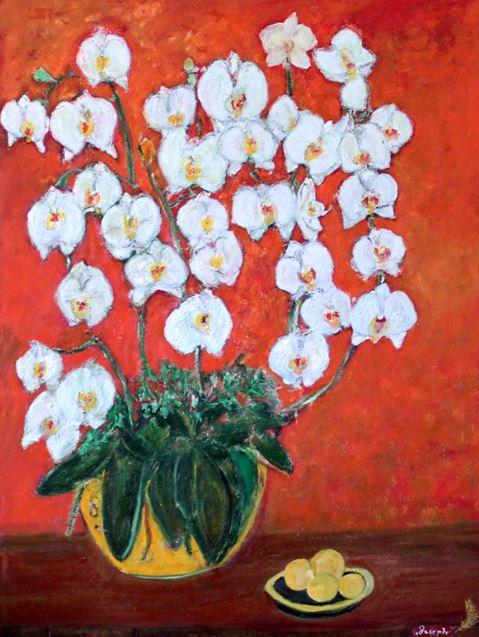 Oil painting Phalaenopsis by Dr. Daniel Joseph