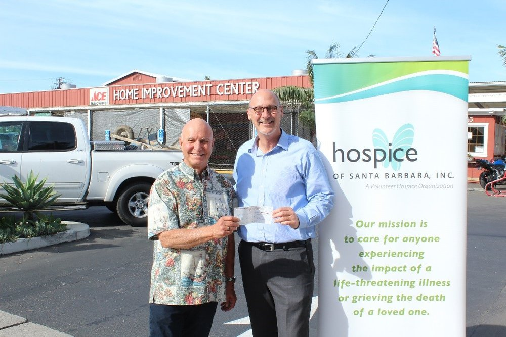 Money raised through purchases made at Santa Barbara Home Improvement Center benefit programs and services at Hospice of Santa Barbara