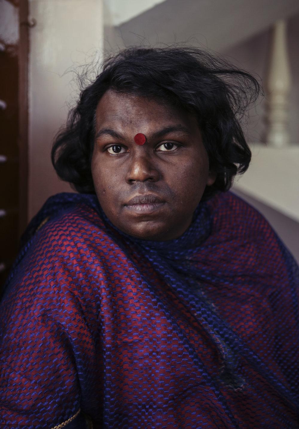 Transgender activist Vijaraya Malika, photographed for   When Nuns Tried to Kickstart India's First Transgender School