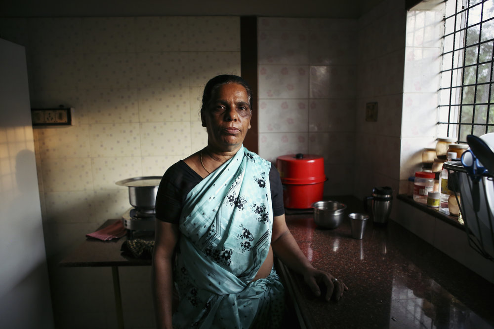 Shamala, a former cook, photographed for   The Maid's Tale(s)