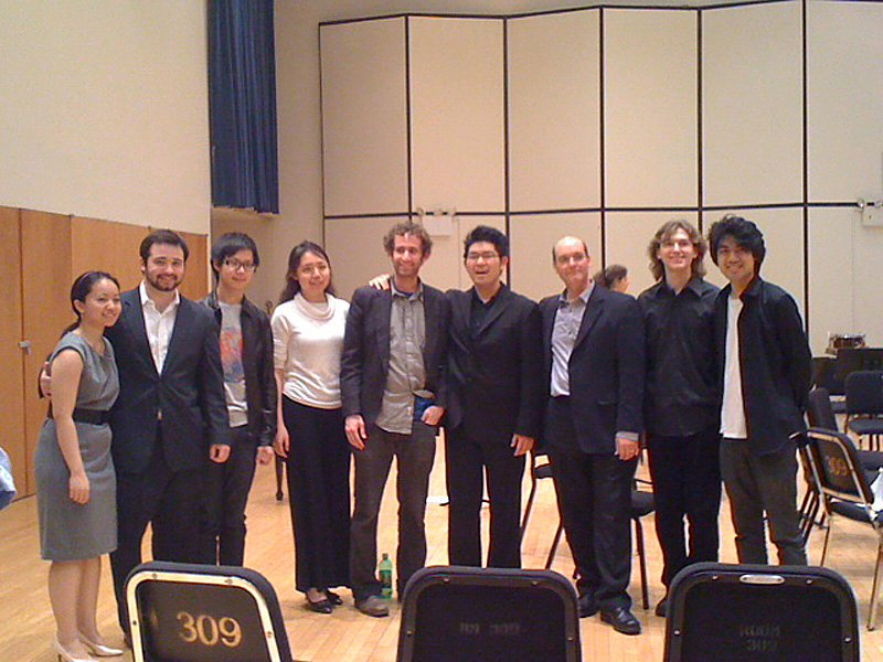 POST CONCERT (LEFT TO RIGHT):  Hannah Sun , Leo Radosavljevic, Me,  Hui Wu ,  Doug Balliett , Euntaek Kim, Professor  Philip Lasser , Alan Clark,  Sean Chen