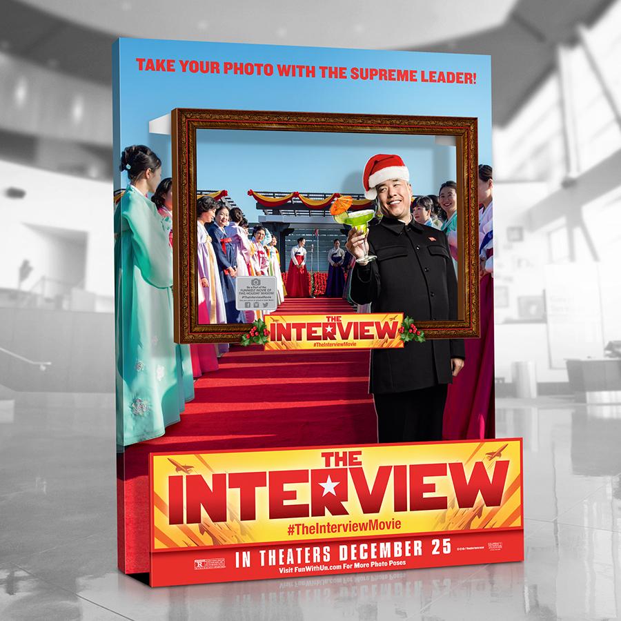 THE INTERVIEW - PHOTO OP STANDEE - SONY