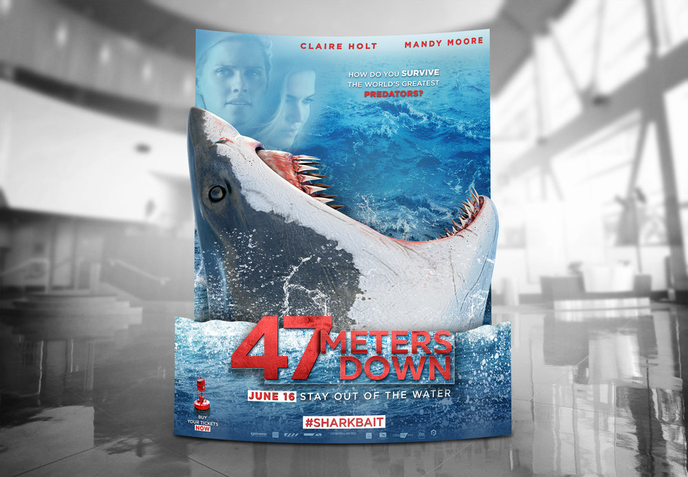 47 METERS DOWN - PHOTO OP STANDEE - AVIRON