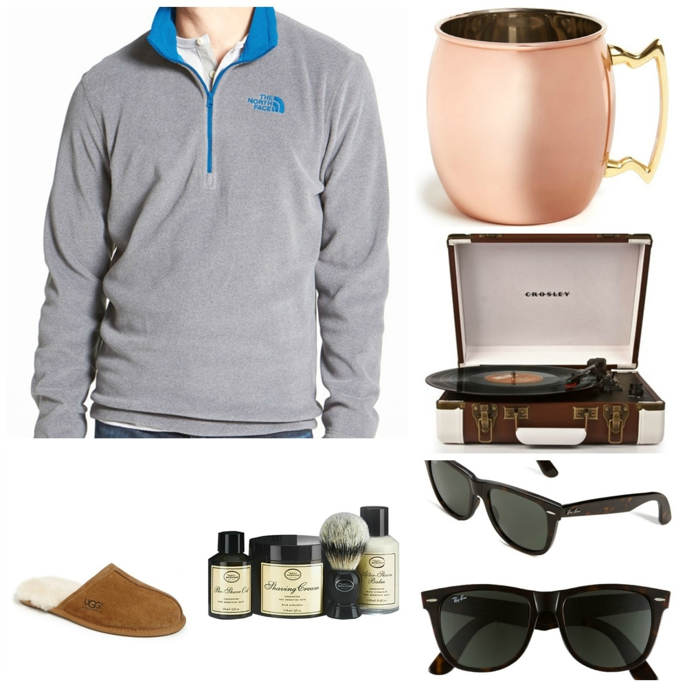 Ugg Slippers - RayBans - Art of Shaving Kit - North Face Pullover - Moscow Mule Mug - Turntable