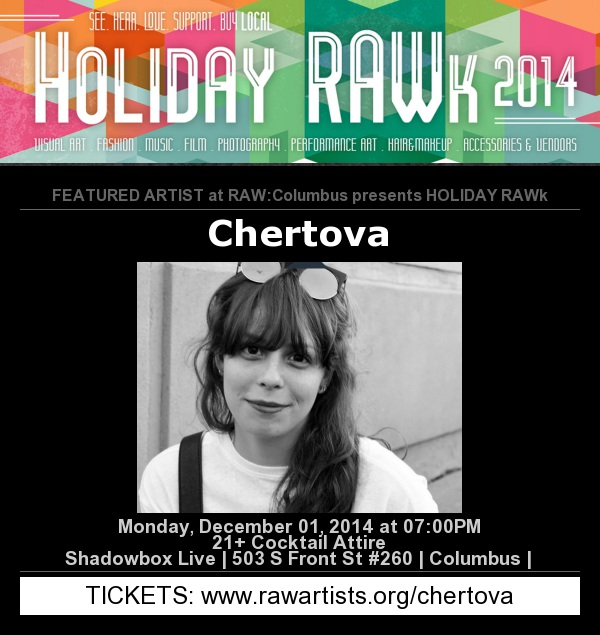 We've booked our next runway show for December 1st - Come see us in action, only $15.00 a ticket. Purchase at www.rawartists.org/chertova.