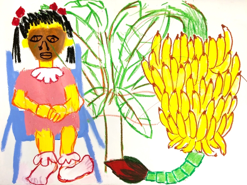 Hillary with a Banana Tree
