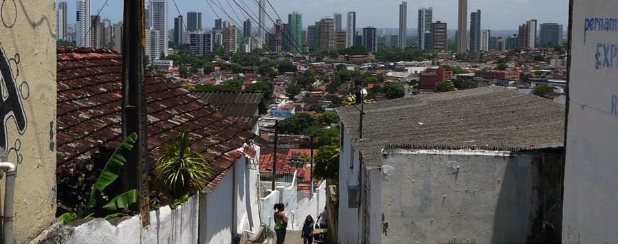 View from Alto Santa Terezinha, hill area of Casa Amarela.