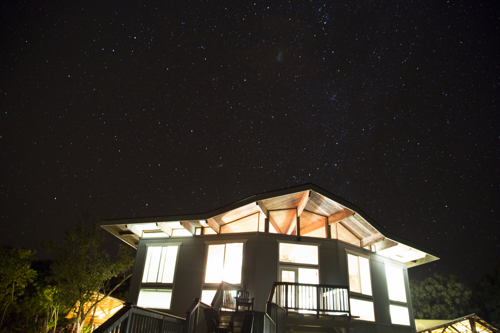 The blanket of stars you'll witness each night staying in Ocean Vista. (photo by Lauren Morrison)