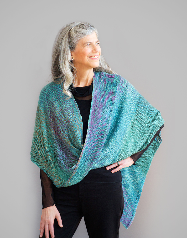 Multicolored Mobius Shawl, Rayon