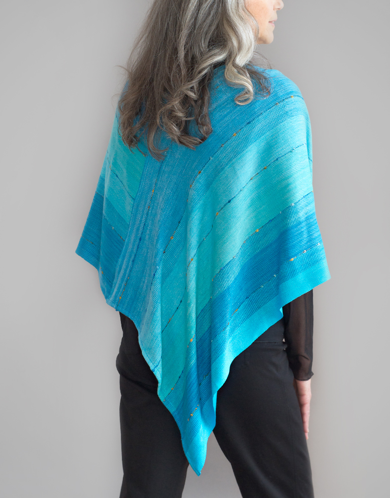 Multicolored Mobius Shawl, Bamboo, Novelty
