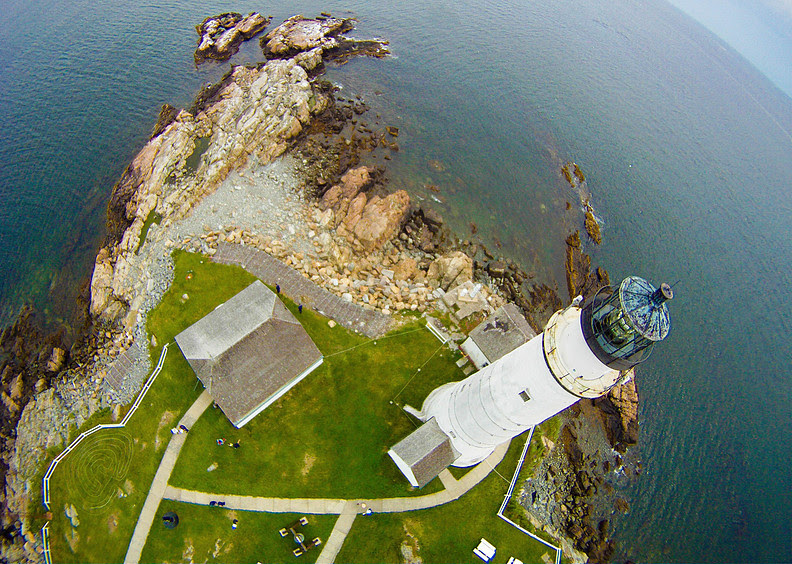 Climb the ladders and 76 steps up Boston Light's tower!