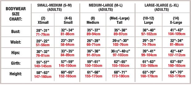 Adult Size Chart