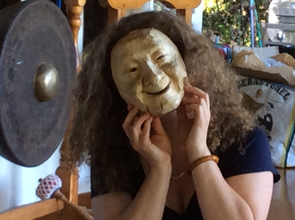 Madeleine attended both of the workshops and came away with the laughing sister masks.