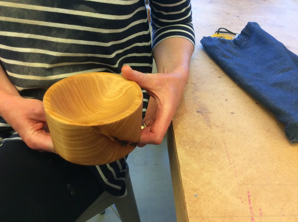 Another Randall Museum class project.  This is a lovely Alder bowl.