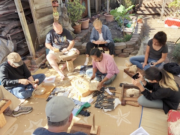 For two weekends in October Tharp Carving Studio hosted Balinese guest artist Ida Bagus Anom Suryawan.