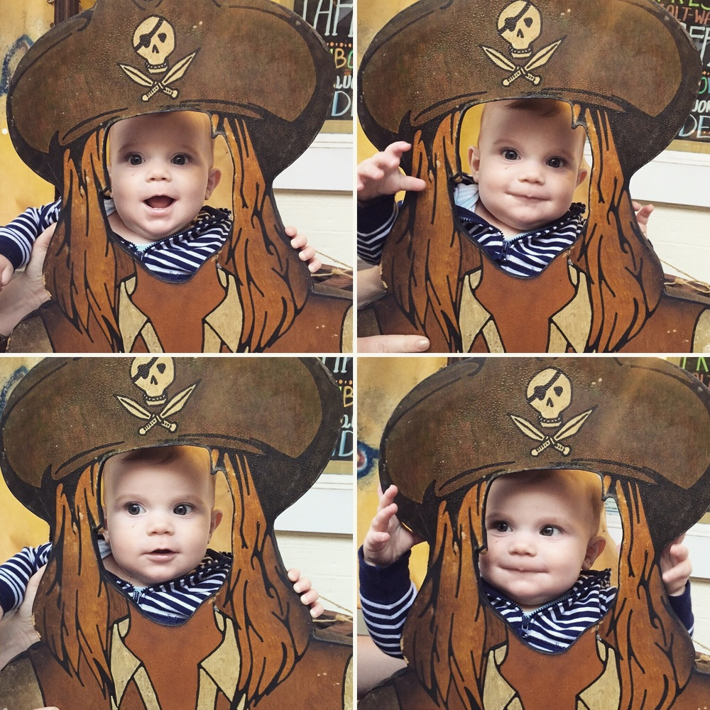 This baby pirate was such a trooper. He smiled at most everyone he saw and was just such a happy guy.