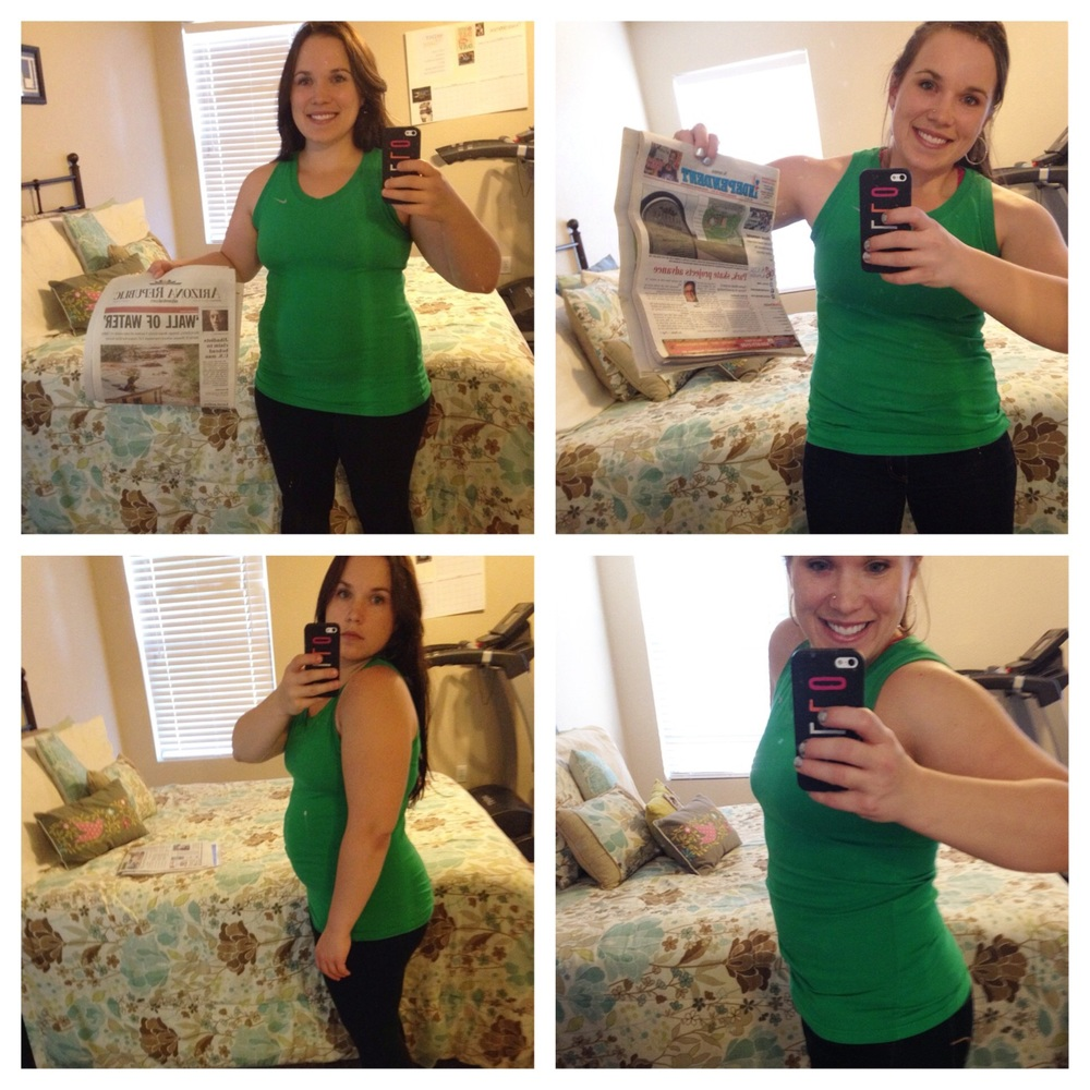 My before and After from the 2014 No Excuse Mom Transformation Challenge. I lost about 12lbs.