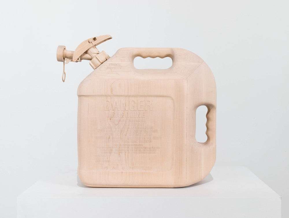 Gas Can, 2013, Maple wood, 16 1/2 x 8 1/2 x 17 1/2 inches