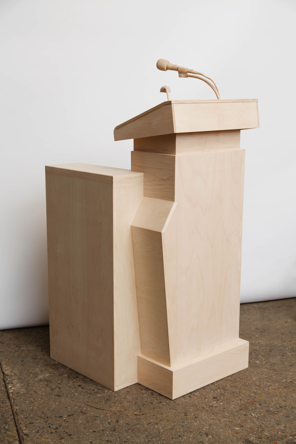 revolution, 2014, Maple wood, 63 x 32 x 27 inches