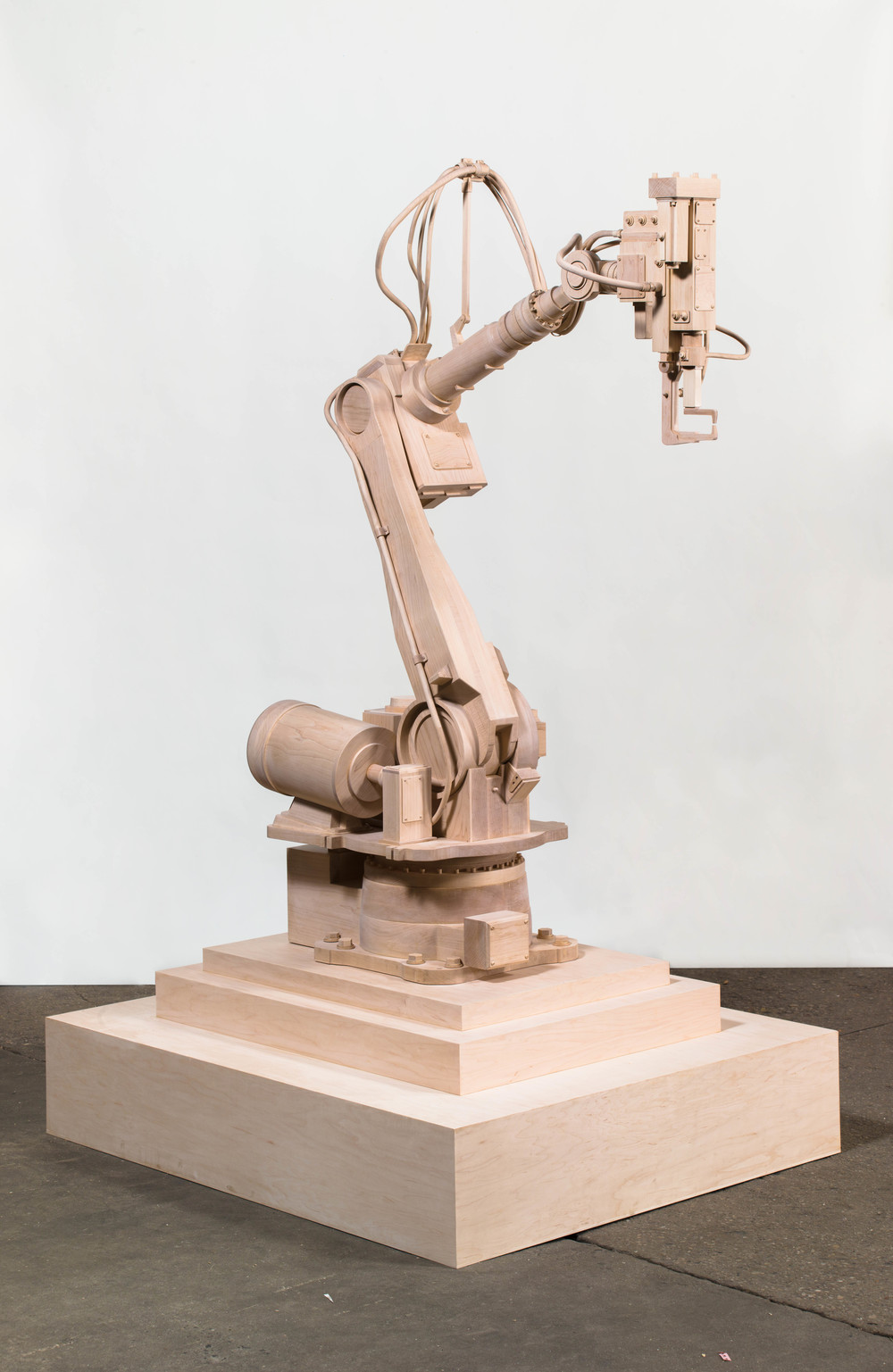 Robot, 2013, Maple wood, 70 x 40 x 24 inches