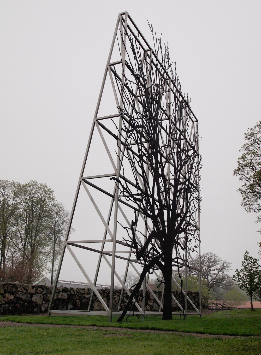 Facade/Billboard, 2010, Edition 1 of 2, stainless steel, 47 x 40 x 8 feet