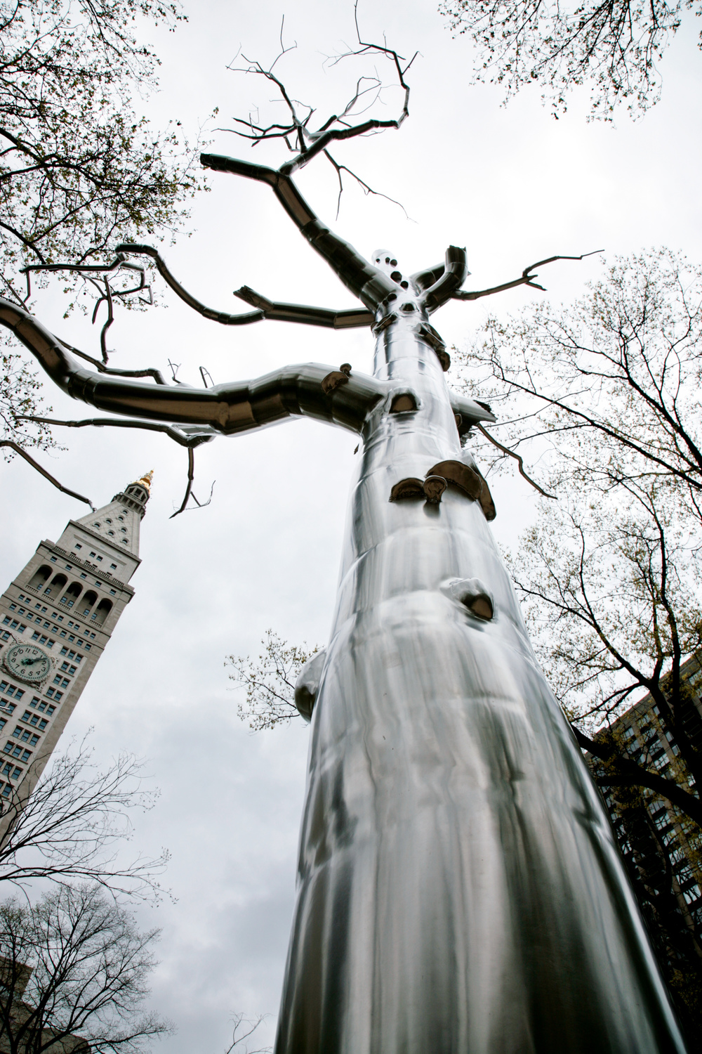 Defunct, 2004, stainless steel, 46 x 18 feet