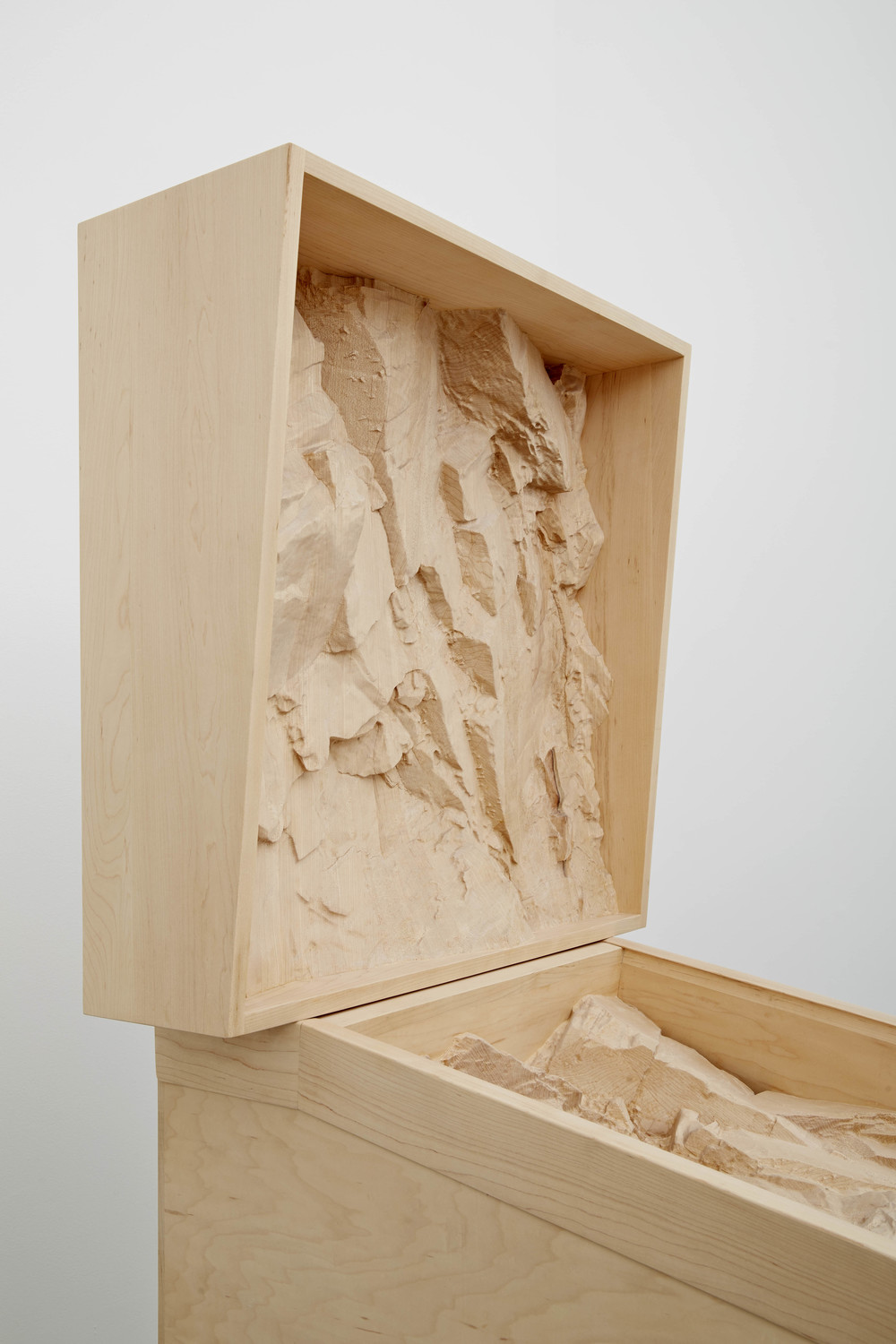 Intrusion, 2014, Maple wood, 72 3/4 x 28 x 58 inches, Photos: Jason Wyche