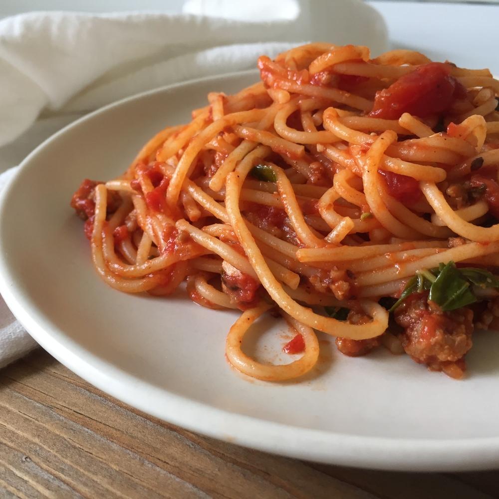 pasta up close