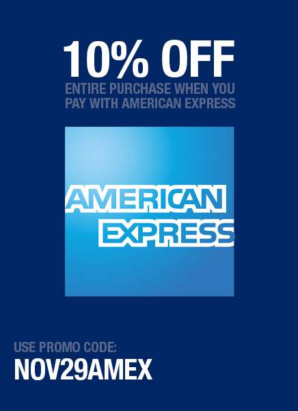 10% Off when you use your American Express