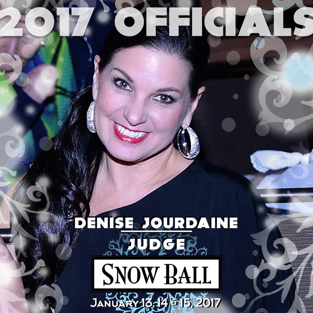 "JUDGE Denise Jourdaine California ""I had a 'dress malfunction' during a televised International Latin Championship in Baden Baden, Germany."""