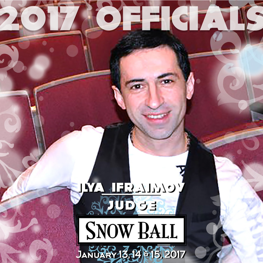 """JUDGE Ilya Ifraimov New York """"At Blackpool Festival I caught Nadia's foot in Paso in the semifinals and flew about 10 feet in front of entire dance world. I landed so hard I couldn't sit, walk normally or lie down for almost a week."""""""