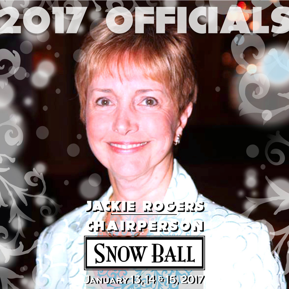 """CHAIRPERSON Jackie Rogers Florida """"The most embarrassing moment was when the zipper on my evening gown split completely open and I had to sneak out of the ballroom with a shawl around me."""""""