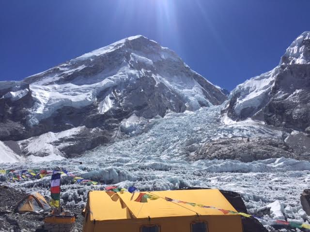 View from base camp tent