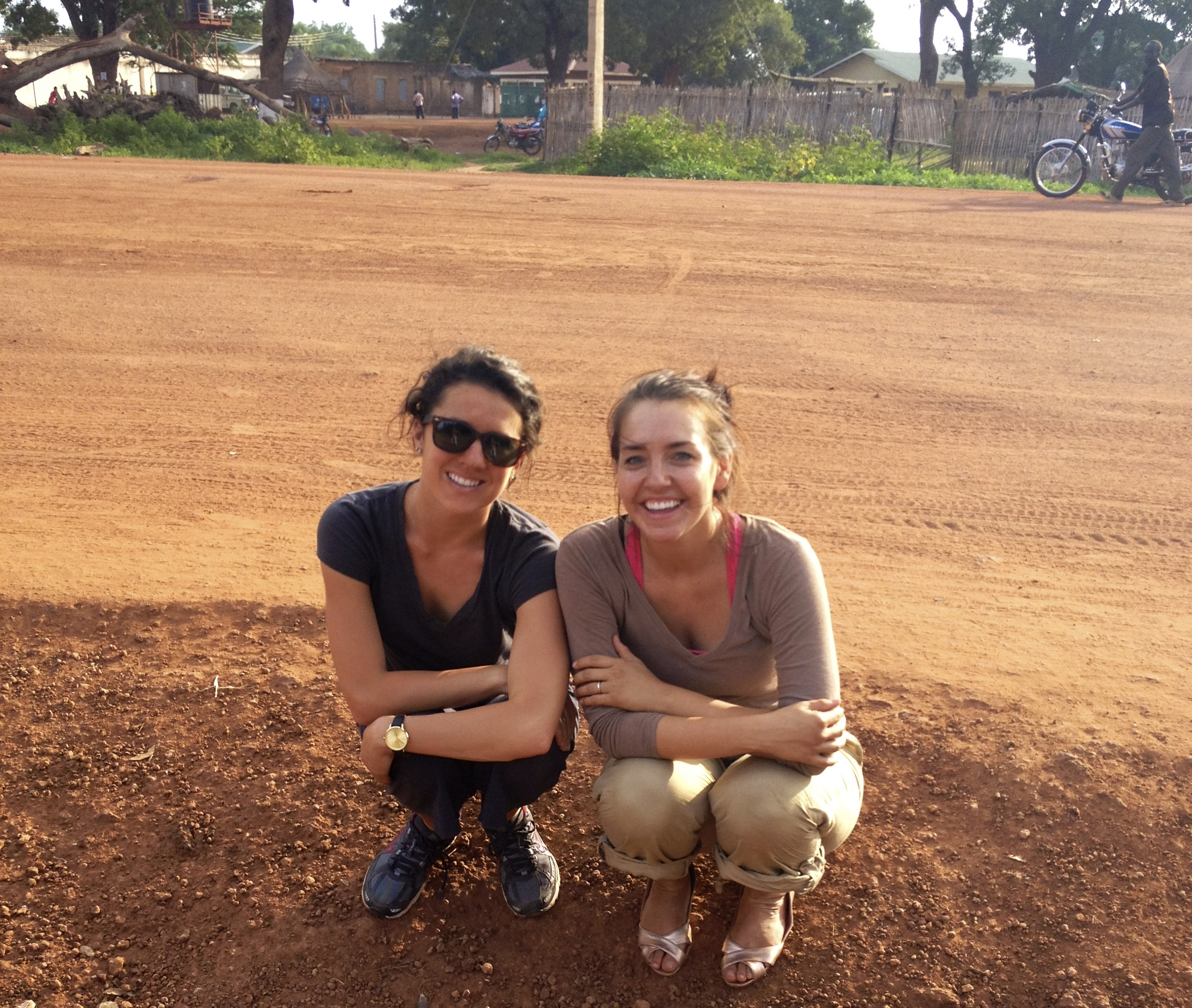 Kelly Ranck and I in South Sudan- getting more orange by the second and making lots of memories!