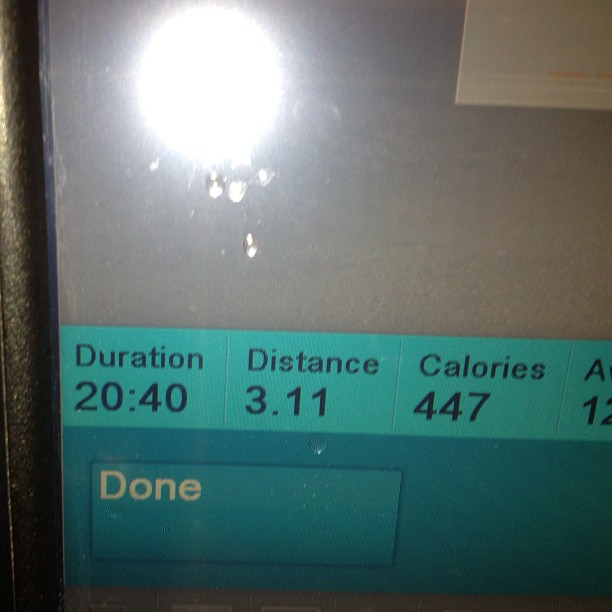 @audioawill @mstizzle I just did a 20:405k on a treadmill .. Is that good? (at Around The Clock Fitness)