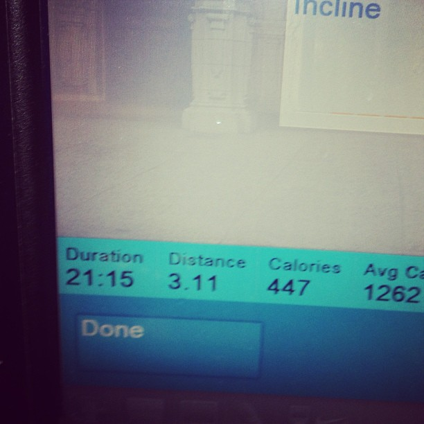 Anyone know if 21:15 is good for a 5k run from a white Christian rapper? (at Around The Clock Fitness)