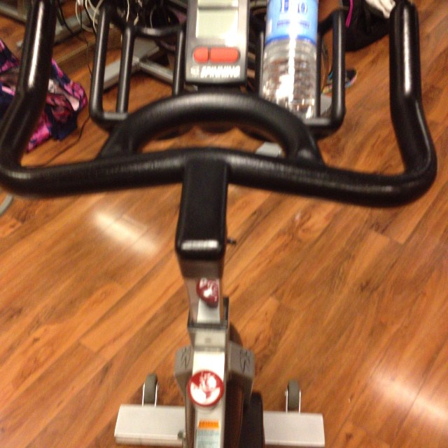 Everytime I do a stationary bicycle class I just feel like I'm going nowhere in life.. Just spinning my wheels.. Never moving fwd…