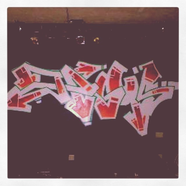 """Found a pic of an old graff piece I did @ the """"eclipse"""" in Buchanon Mi. Shouts to John Troutman for posting it!"""