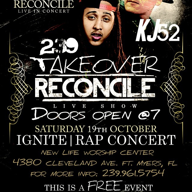 Free concert this Saturday in Ft myers ft. me & @reconcileus check flyer for details!