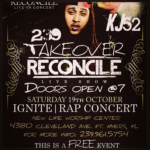 Don't forget! Tomm.. Free show w/ myself & @reconcileus in Ft. Myers fl. See flyer for deets.. (at Starbucks)