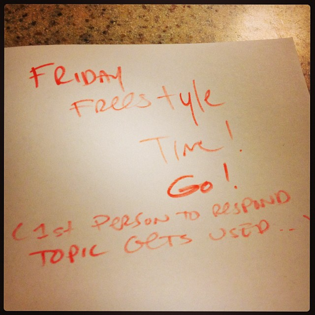 Fri freestyle time! 1st person on each social networks topic gets used.. Hit me!