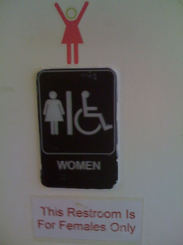 This pic is extra stupid.. How many signs do u need to figure it out?