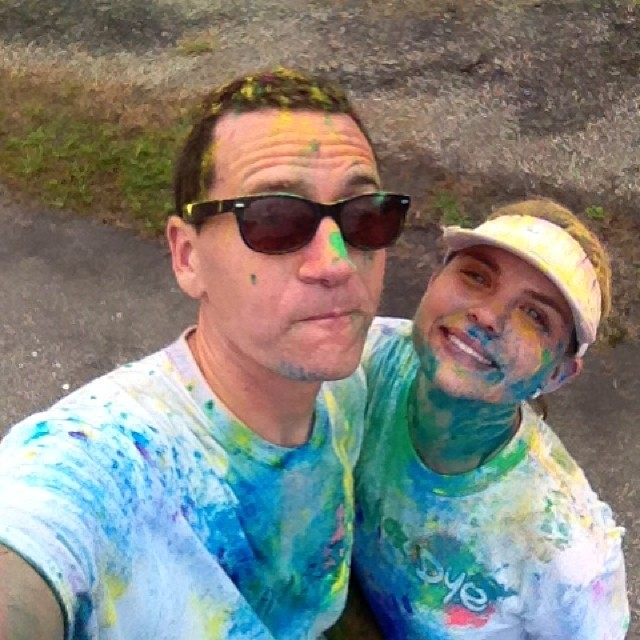 Run or dye after shot: it's safe to say as far as couples go.. We're a mess.